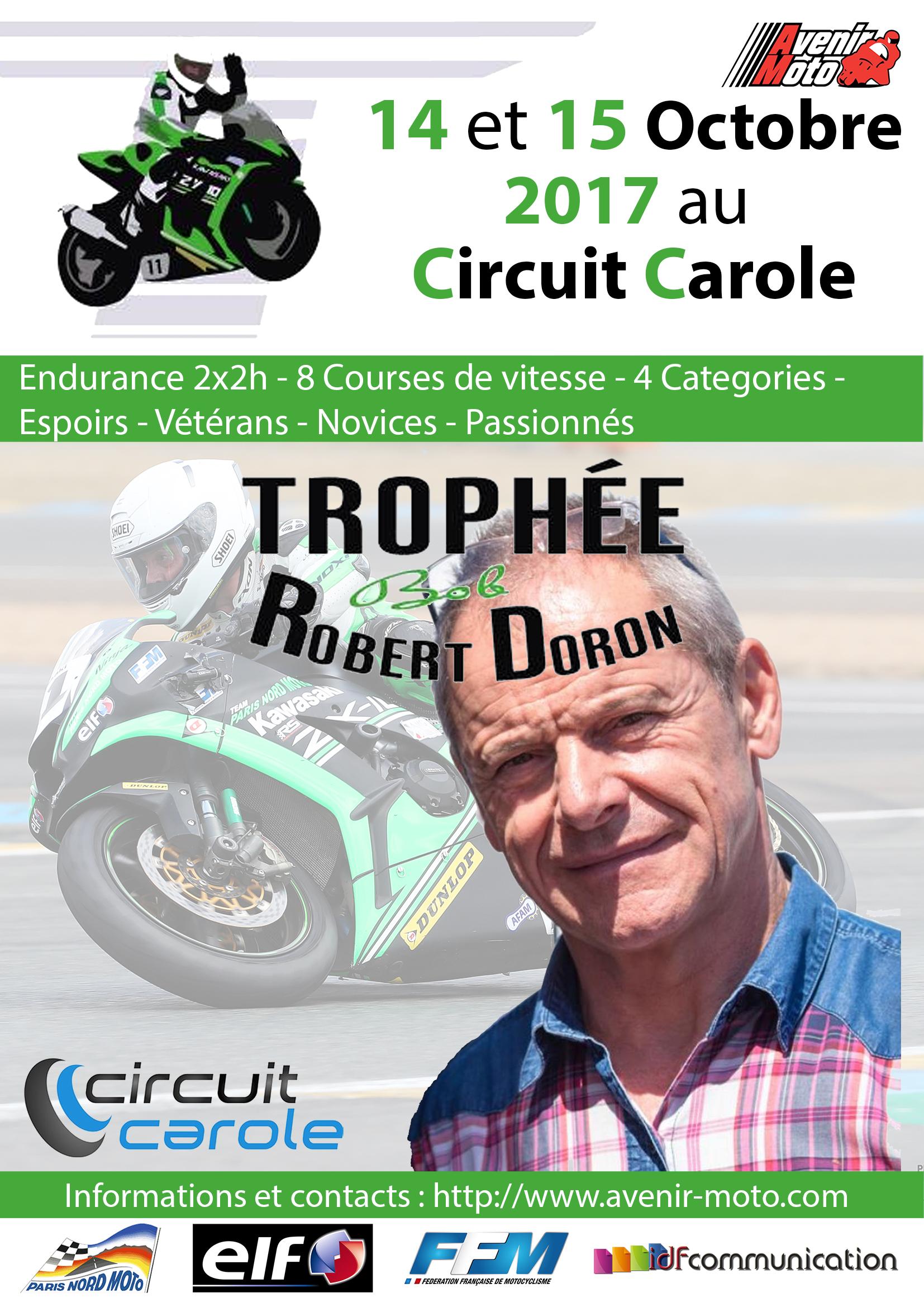 affiche TRophée robert Doron 2017
