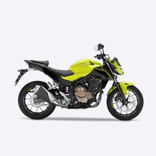 image CB500F jaune Paris Nord Moto