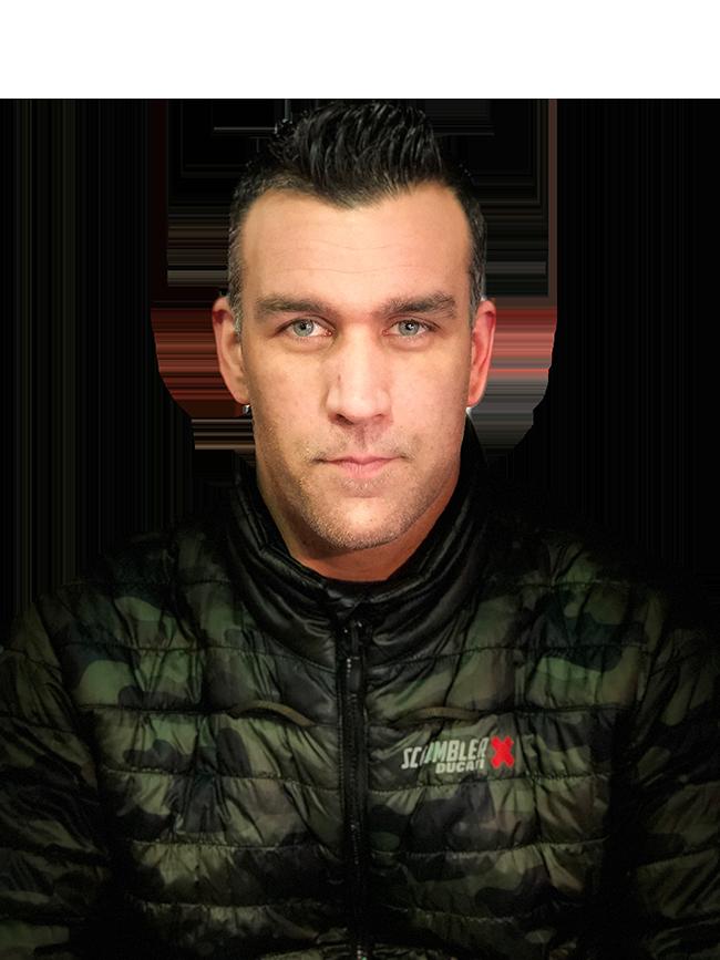 Jimmy vendeur Ducati Paris Nord Moto
