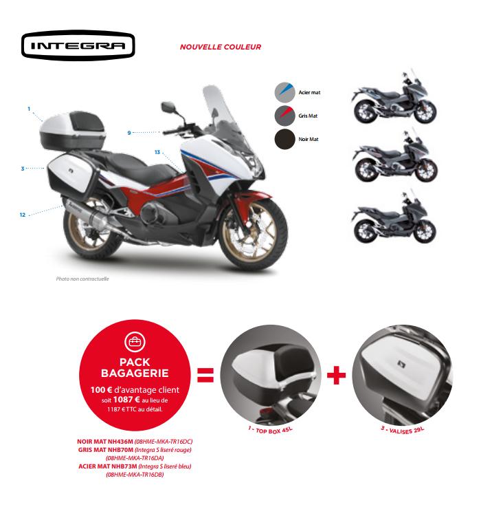 Accessoires Honda Integra Paris Nord Moto