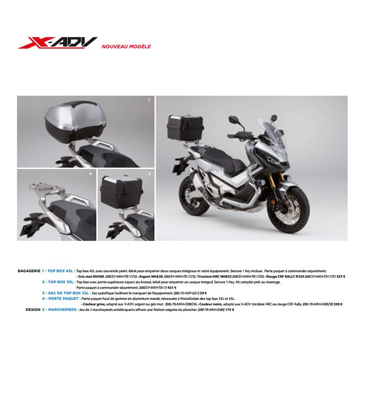 Accessoires Honda X-ADVParis Nord Moto