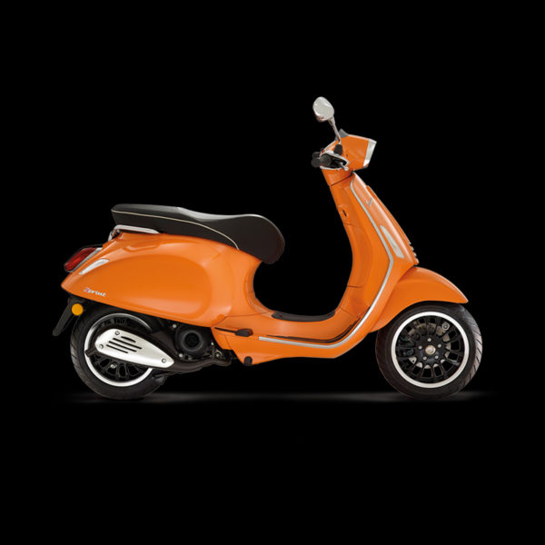 image Vespa Sprint 50 orange Piaggio Paris Nord Moto